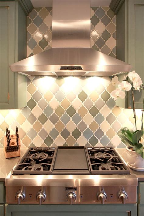 kitchen sink backsplash arabesque tile kitchen backsplash
