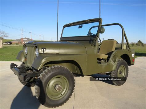 1953 Willys Jeep 1953 Willys Jeep M38a1 12 Volt 4 Cyl Quot Hurricane Quot Engine 4wd