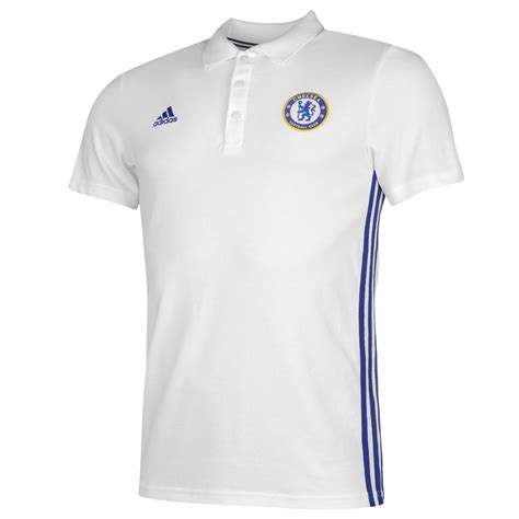 T Shirt Chelsea 6 adidas chelsea fc polo shirt mens white blue football