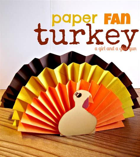 Easy Thanksgiving Paper Crafts - 5 thanksgiving turkey crafts for your des