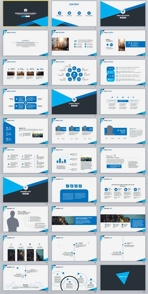 Business Report Ppt Template 30 Blue Business Report Powerpoint Template The Highest