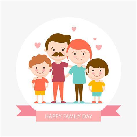 Happy Family Cards Templates by 벡터 가족 한 집안 평촉 부모 무료 다운로드를위한 Png 및 벡터