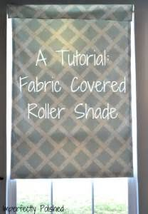 Room Darkening Roman Shades - fabric covered roller shade