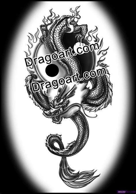 yin yang dragon tattoos tattoos page 69