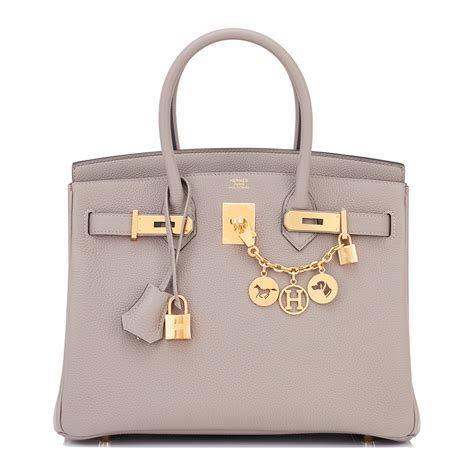 Richards And Hermes Birkin Bag by Hermes Birkin Bag 30cm Gris Asphalte Togo Gold Hardware