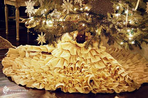 the johnston s diy no sew ruffle christmas tree skirt
