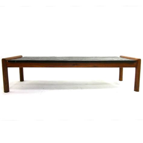 Slate Coffee Table For Sale Mid Century Modern Brutalist Slate And Walnut Coffee Table By Adrian Pearsall For Sale At 1stdibs