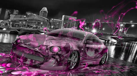 wallpaper 3d tuning toyota celica jdm tuning anime girl aerography city car