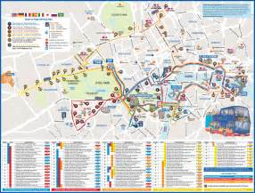 Hop On Hop Off Los Angeles Map by Londres Bus Hop On Hop Off London
