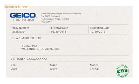 geico car insurance card template geico insurance card template stoatmusic
