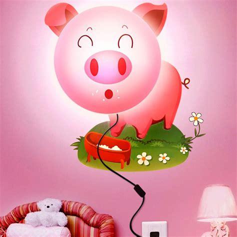 Wallpaper Stiker Gris Pink k 246 p diy sticker v 228 ggla tecknad rosa gris led 3d bakgrund ljus bazaargadgets