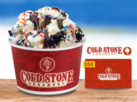 Cold Stone Gift Card - win a 50 cold stone creamery gift card woman s world
