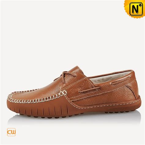 Genuine Leather Stitched Loafers leather boat stitched driving loafers for cw740106