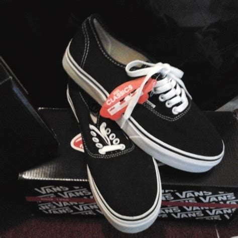 Vans Authentic Black Gum Wafle Hf sepatu vans authentic black white hf original sepatu