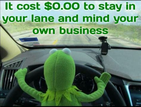 Do Your Own Meme - stay in your lane and do your job kermit love pinterest
