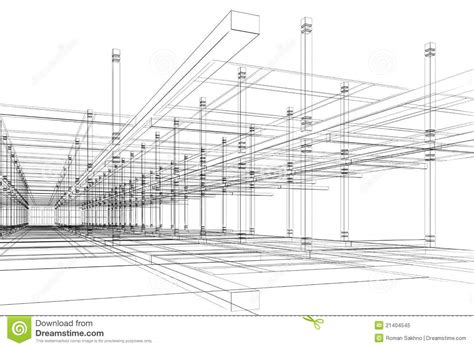 Drafting And Design For Architecture And Construction abstract architectural construction stock illustration