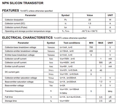 transistor e13003 datasheet pdf e13003 datasheet pdf diotec electronics corporation