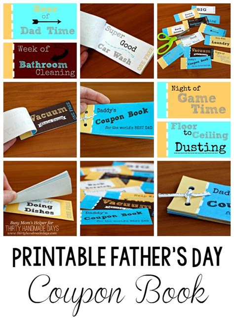 coupon book ideas printable s day coupon book coupons dads and
