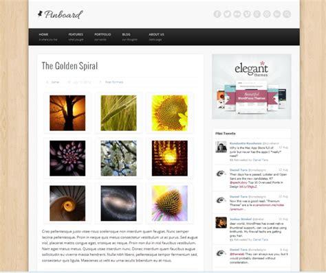 blog theme pinterest wordpress pinboard theme free pinterest styled theme