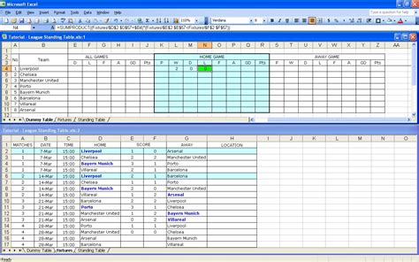 Create Your Own Soccer League Fixtures And Table Excel Basketball Scores Basketball Schedule Template Excel