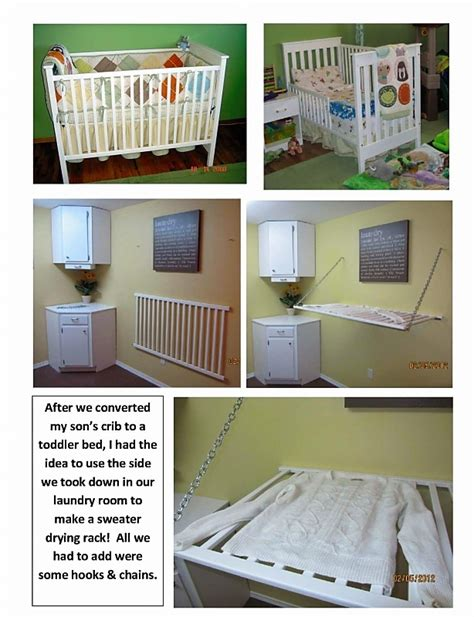 Crib That Hooks To Bed Drying Racks Cribs And Laundry Rooms On