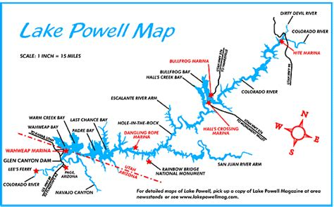 lake powell map page lake powell guide page lake powell area maps
