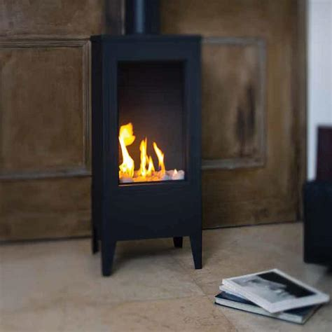 Small Gas Fireplace by Ortal Ortal Standalone Small Square Gas Fireplace