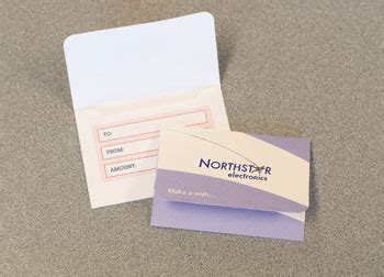 Custom Paper Gift Cards - custom printed paper gift card holders style gc 120