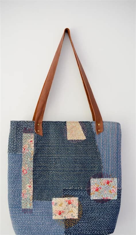 Sashiko Denim Bag   AllFreeSewing.com