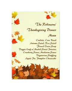 Free Dinner Menu Templates by 25 Thanksgiving Menu Templates Free Sle Exle