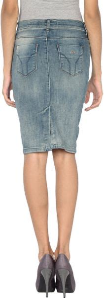 miss sixty denim skirt in blue lyst