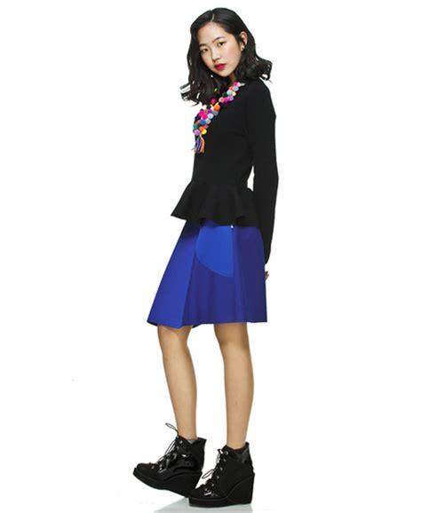 Korean Style Dress Wedges Peplum kmall24 lucky chouette s unbalance peplum skirt