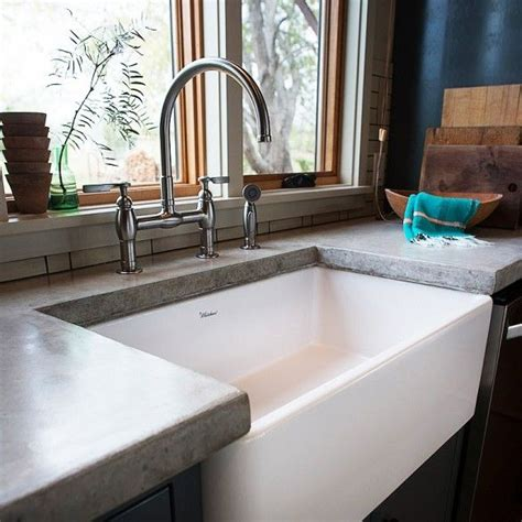 Kitchen Sink Tops Inside An Eclectic Kitchen Concrete Counter Counter Tops And Sink Inspiration