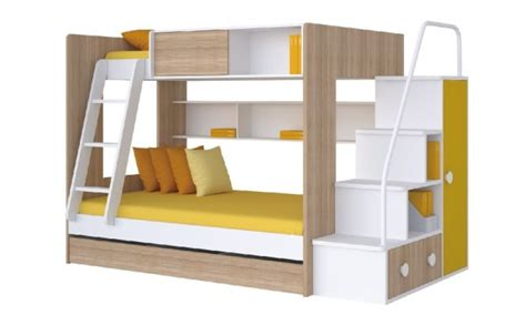 Kim Wooden Bunker Bed Sturdy Bunker Bed With Stairs Bunkers Bunk Beds
