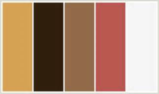 brown color combination colorcombo396 with hex colors d5a253 301f0d 936a4a b85750 f5f5f5
