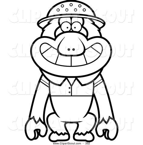 rhesus monkey coloring page how to draw macaque