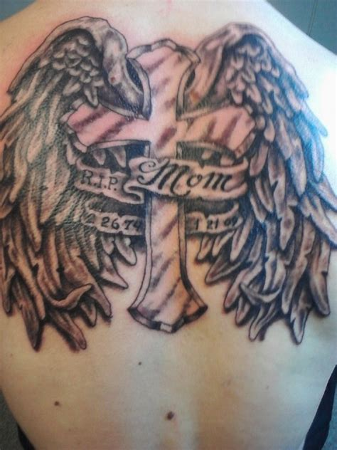 angel wings memorial tattoo 50 remembrance tattoos for mom