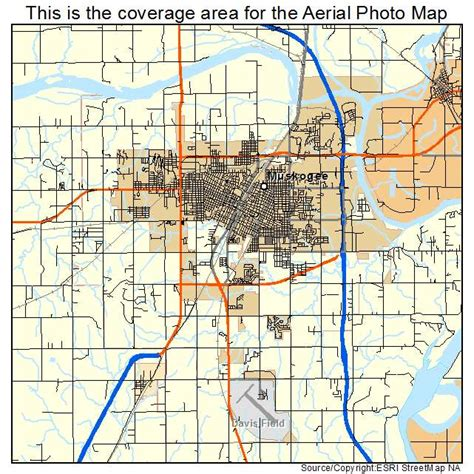 map of muskogee oklahoma aerial photography map of muskogee ok oklahoma