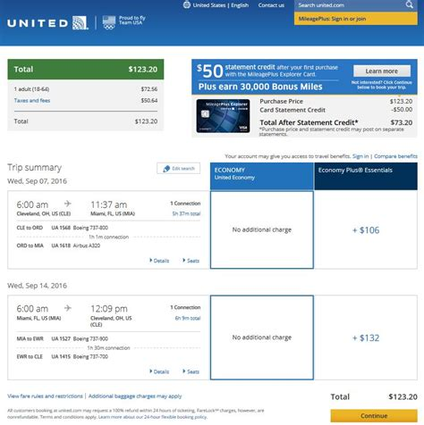 united airlines booking 124 cleveland to miami r t fly com travel blog