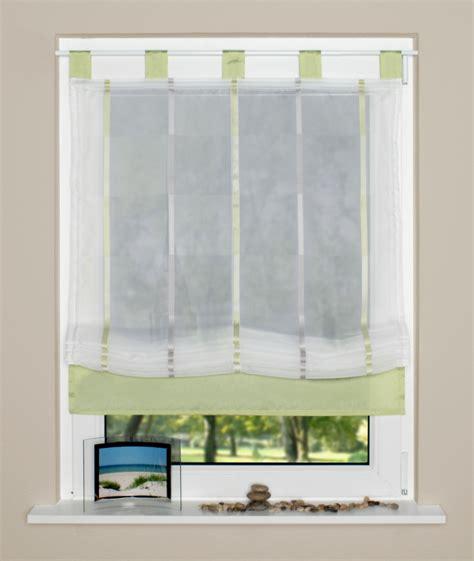 weiße gardinen mit schlaufen raffrollo rollo schlaufen wei 223 transparent mit gr 252 nen