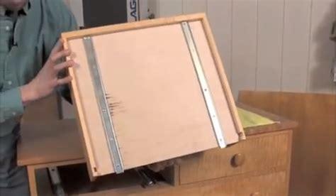 install wood center mount drawer slide installing under mount drawer slides woodworking blog