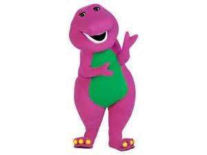 cartoon characters barney dinosaur