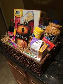 Movie Night Gift Basket Movie Night Basket For A Silent Auction Or Fundraiser Gifts Pinterest Fundraisers Auction