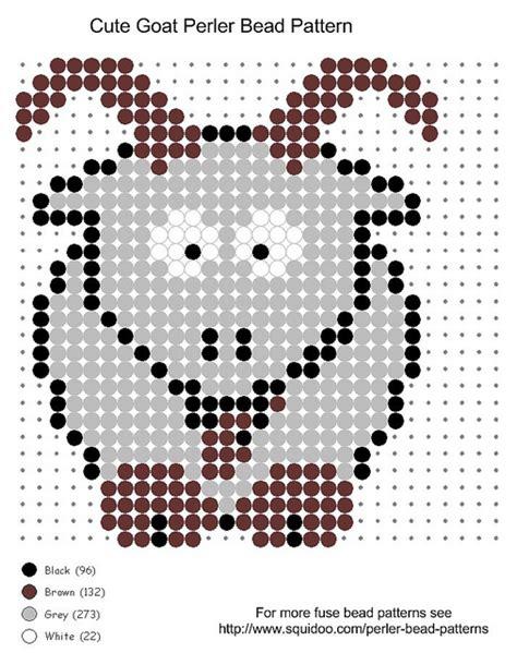 cute goat pattern cute goat perler bead pattern perler beads beads and