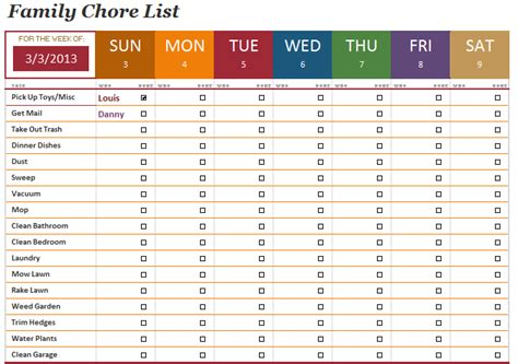 child chore list template the family chore list template will help you manage the