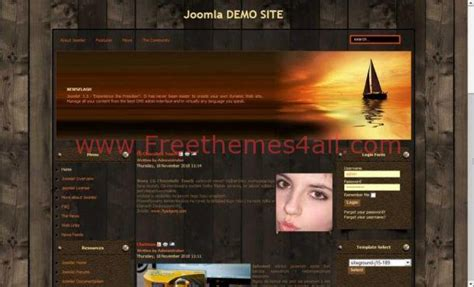 firefox themes wood free grunge wood brown joomla template freethemes4all
