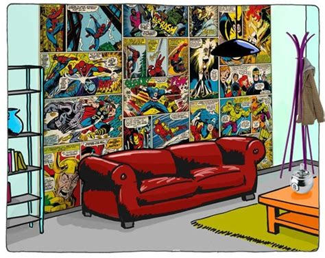 Comic Bedroom by Comic Book Bedroom Wallpaper Home Decorating Ideas