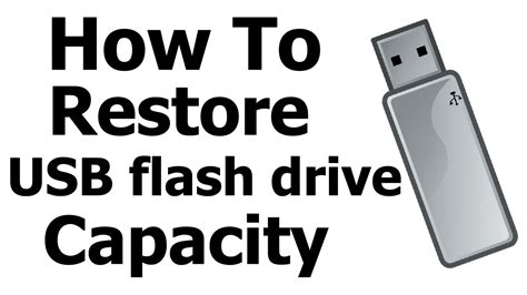 format flash disk unknown capacity restore usb flash drive capacity format unallocated