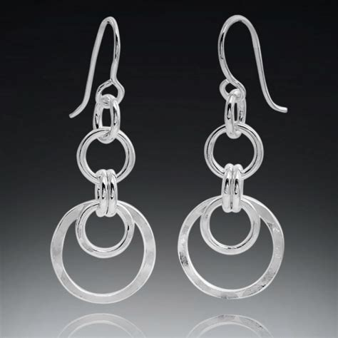 Multi Circle Earring multi circle sterling silver earrings