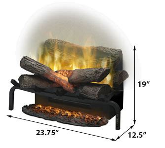 dimplex 20 in revillusion electric fireplace insert log